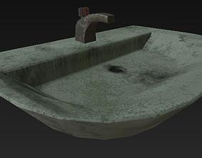 3D asset wash bathroom