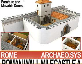 Ancient Roman Mile Castle A 3D model