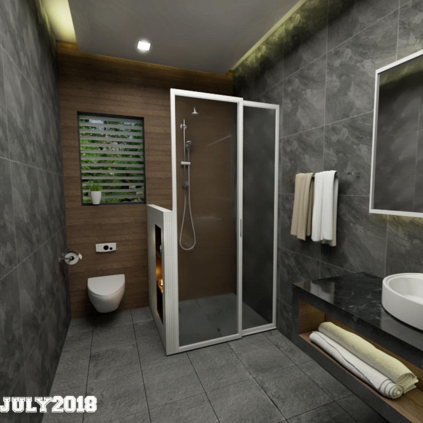 Cozy bathroom design