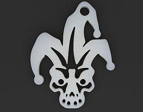 Jester Skull Pendant 3D printable model