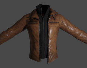 animated Leather Jacket 3D Model ready For Animation and