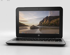 3D HP Chromebook 11 G3 Twinkle Black
