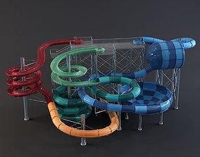 3D model water Park slides 6