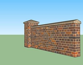 3D asset brick wall clip-able