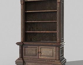 Antique bookcase 3D