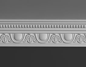 Cornice 3D model skirting