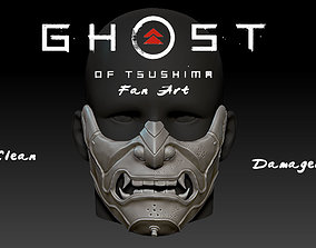 3D printable model Sakai Mask Ghost of Tsushima Mask