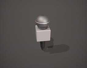 Journalist Microphone 3D model