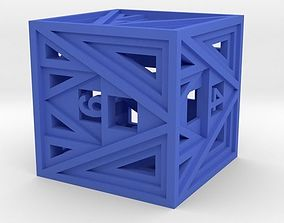 pendant 3D print model Dice
