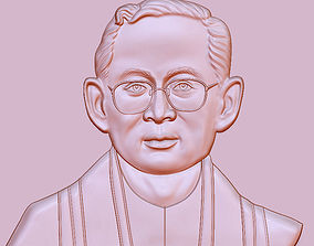 3D printable model King Bhumibol quotes