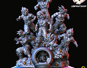 GOKU ALL FORMS 3D print model