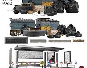 Street kitbash 3D model