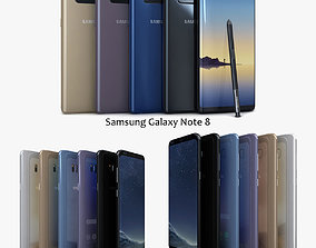 Samsung Galaxy S8 S8Plus and Note 8 Collection 3D model