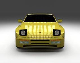 3D model Porsche 944 Convertible