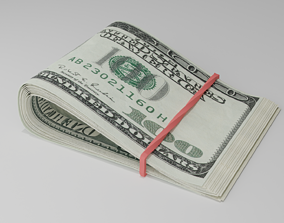 Money 3D model realtime