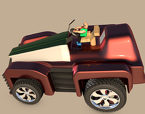 3D model Car For Video Games Eight