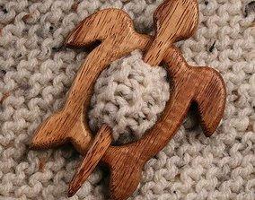 3D shawl pin
