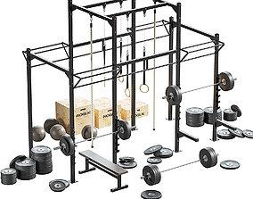 Crossfit set equipment 3D model