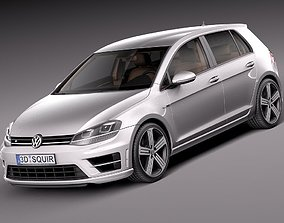 Volkswagen Golf VII R 5-door 2015 3D model