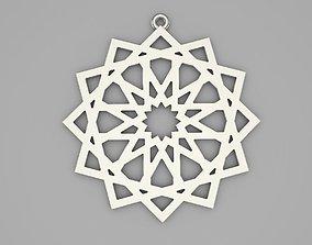Islamic ornament pendant 3D printable model