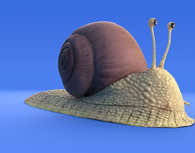 3D Snail - Cartoon Style