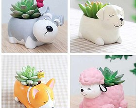 Pack of planter pets 3D printable model