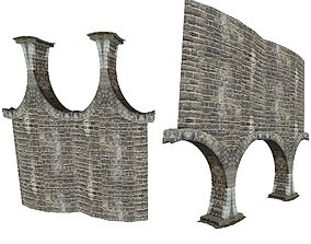3D model Gatehouse 01 With Arches Pillar 05