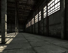 Old warehouse industrial interior 3D model