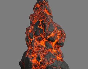 Low poly Lava Rock 16-190427 3D model