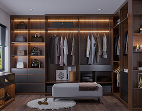 3D model Dressing room and Working room luxury