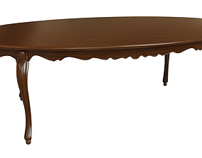 3D Classic wood table 2400