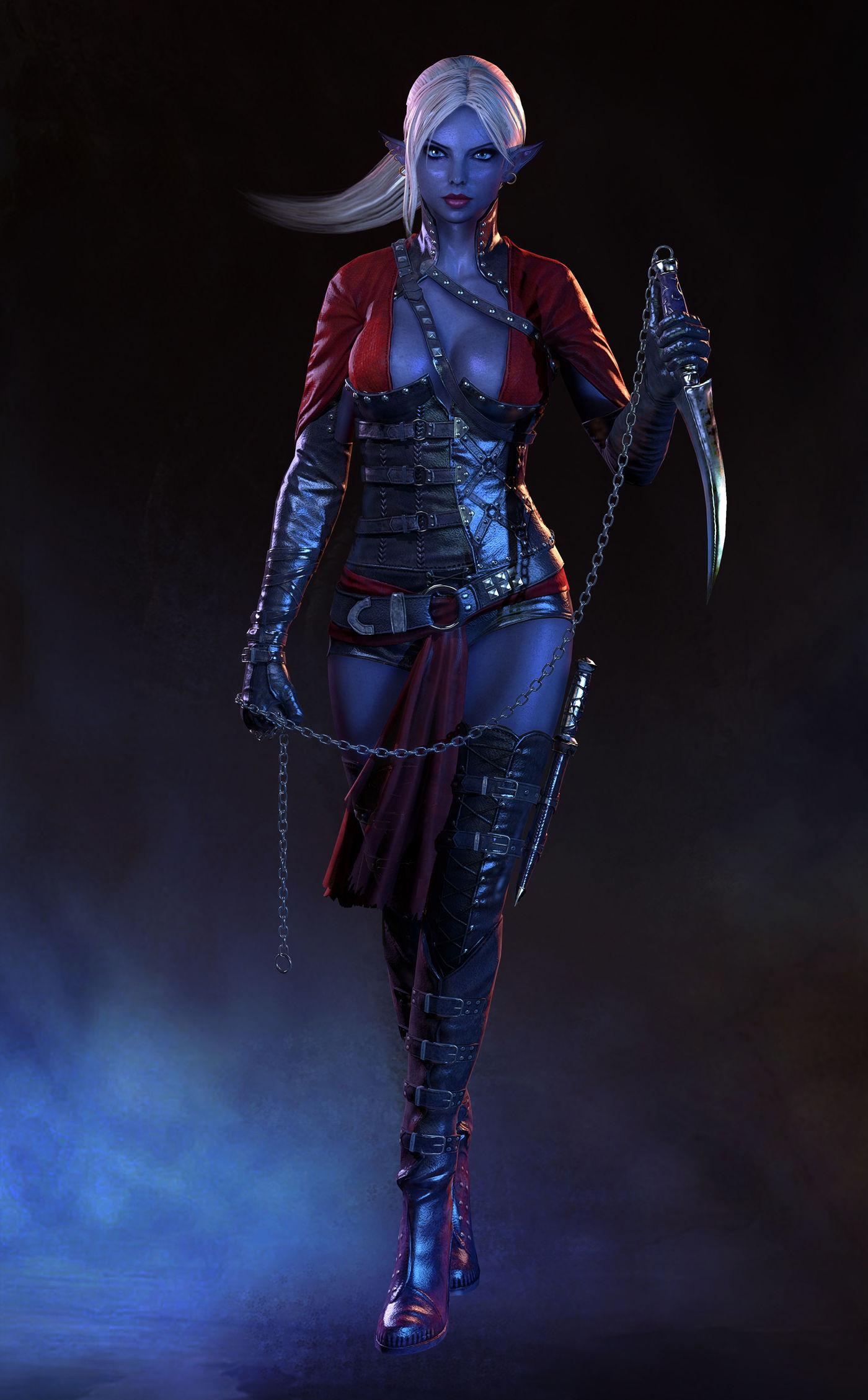 The Dark Elf Assassin Cgtrader