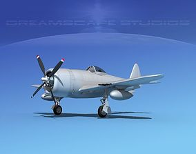 Republic P-47D Thunderbolt Bare Metal 3D
