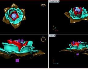 3D print model Flower Gold Pendants Mat day Hoa