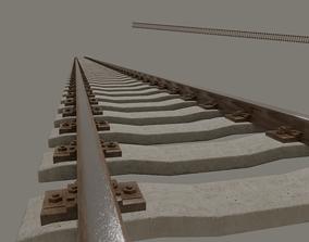 3D model Railroad Tracks