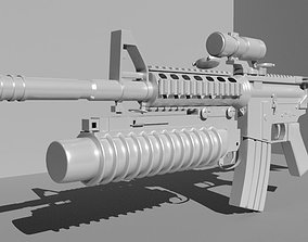 Machine Gun 3D model battle