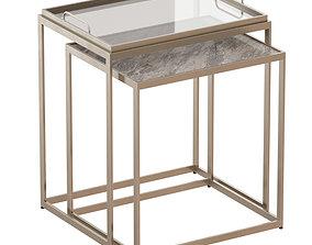 3D model Saylor Nesting End Tables Crate and Barrel