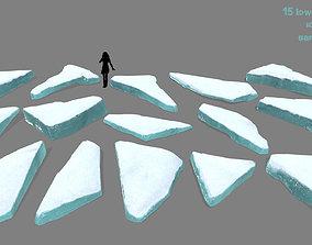 sand 3D model VR / AR ready ice set