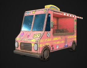 3D asset game-ready Ice Cream Truck