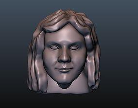 Woman head 12 3D print model