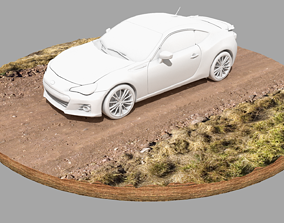 Dirt Road Vehicle Plinth 3D model