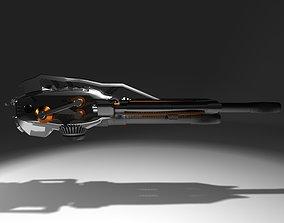 Futuristic Weapon Concept 3D asset