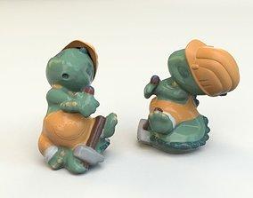 3D model Kinder Surprise Toy dino 2