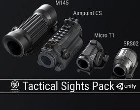 PBR Tactical Sights Pack 3D asset