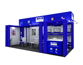 3D model MTCA Exhibition booth