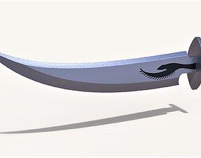 3D printable model Ashandarei blade from Wheel of time