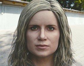 3d model Kim Dickens Madison Clark head realtime
