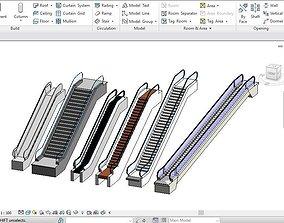 6 Escalator models Revit 2015 3D