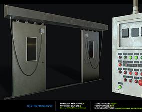 3D asset Electric Fridge Door