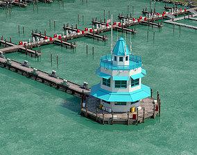 Beach pier constructor 3D asset